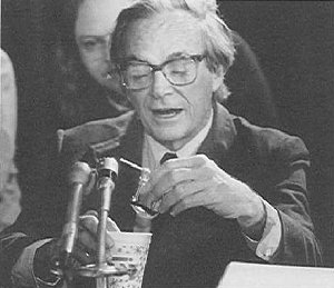 Feynman and the famous C-clamp experiment -- in a glass of ice water -- at the Challenger Commission.